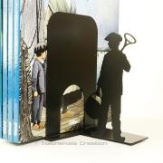 Serre-livres sur le thème de la bande dessinée des Chasseurs d'écume