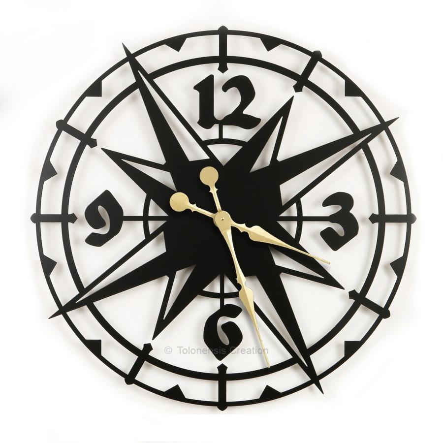 Duży zegar egzotyczny Colombus 78 cm