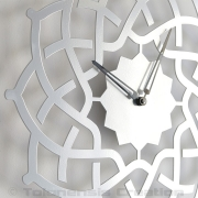 Horloge murale ARABESQUE Argent - Design Jacques Lahitte © Tolonensis Creation