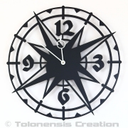 Horloge coloniale COLOMBUS - Design Jacques Lahitte © Tolonensis Creation