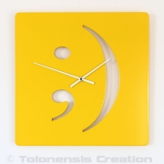 Horloge moderne SMILE - Design Jacques Lahitte © Tolonensis Creation