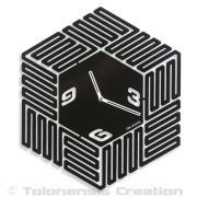 Horloge contemporaine LABYRINTH - Design Jacques Lahitte © Tolonensis Creation