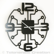 Horloge moderne ROBOTIC - Design Jacques Lahitte © Tolonensis Creation