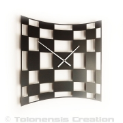 Horloge moderne TWIST - Design Jacques Lahitte © Tolonensis Creation