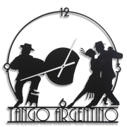 Horloge murale TANGO ARGENTIN - Design Jacques Lahitte © Tolonensis Creation