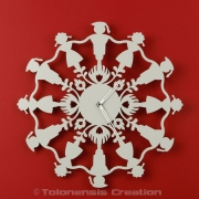 Horloge Polish Folk KRAKOWIACY Gris Clair - Design Jacques Lahitte © Tolonensis Creation