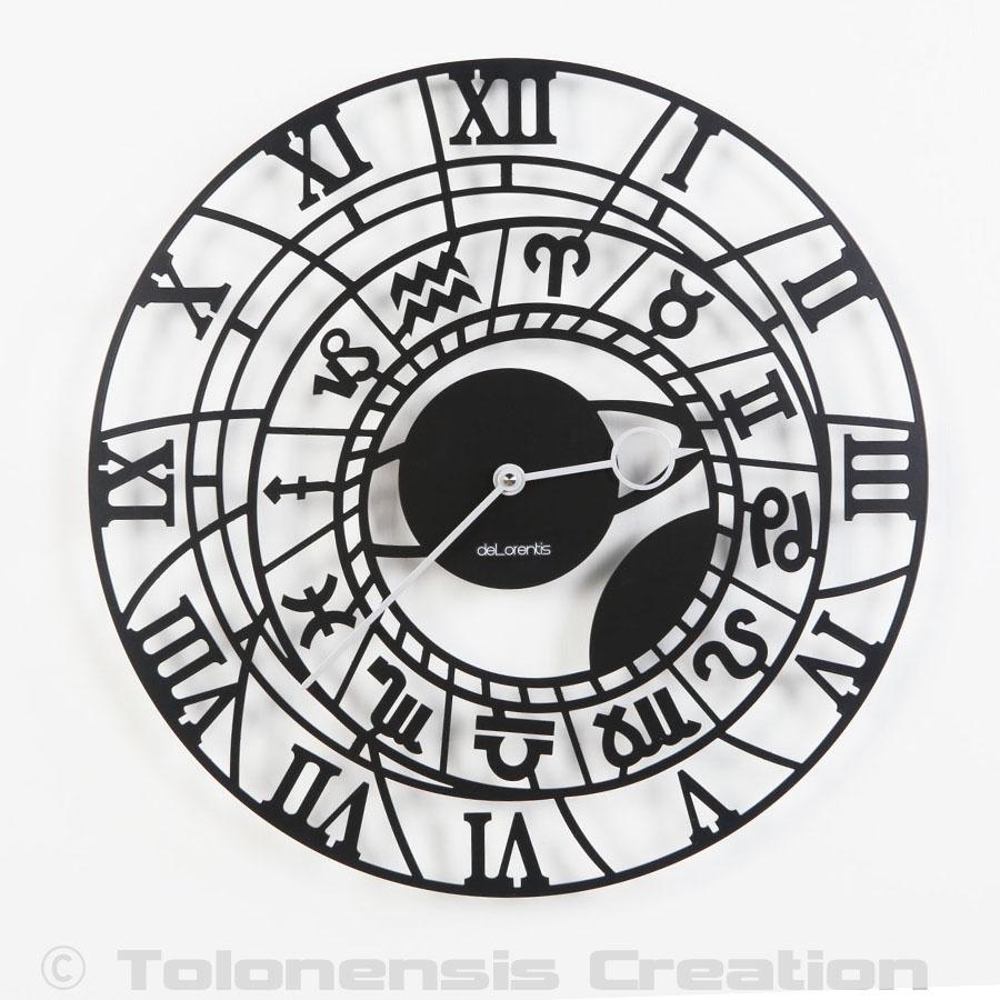 Horloge Zodiaque directement inspirée de l'horloge astronomique de Prague - Design Jacques Lahitte © Tolonensis Creation