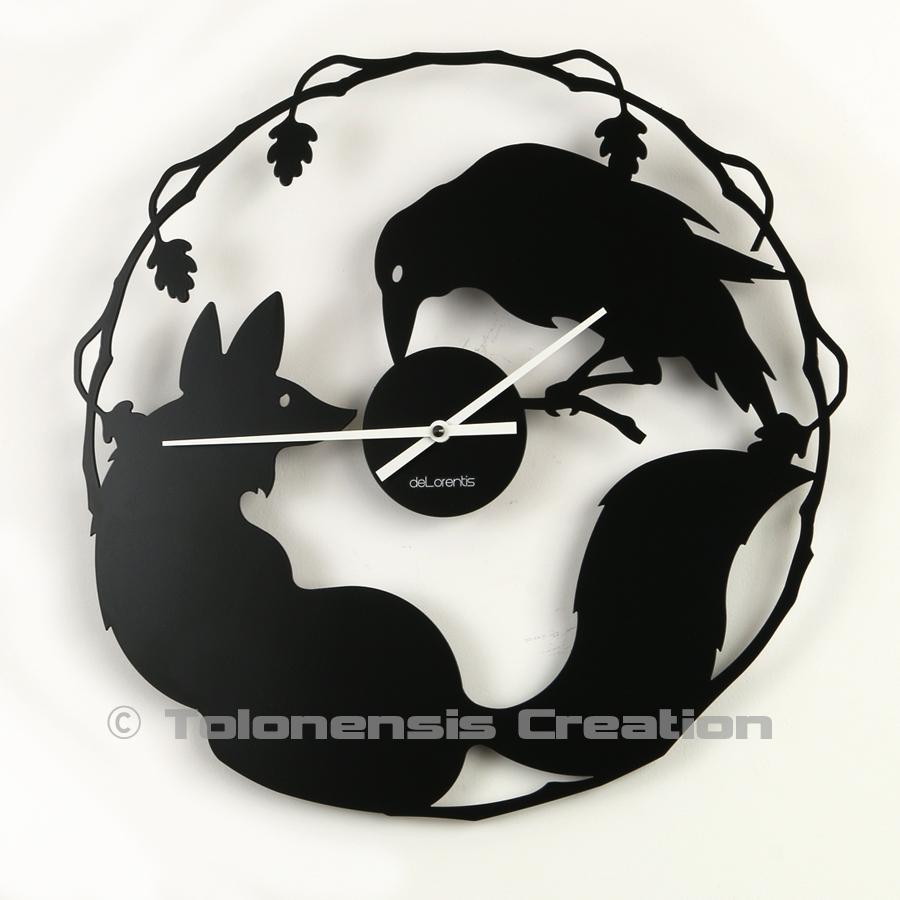 Une surprenante horloge le Cordeau et le Renard d'après la fable de Jean de La Fontaine - Design Jacques Lahitte © Tolonensis Creation