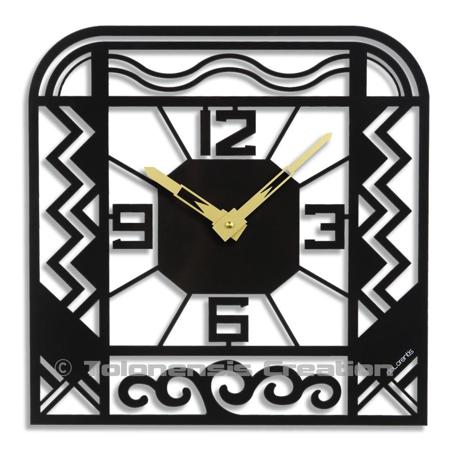 Horloge de style Art Deco CHARLESTON