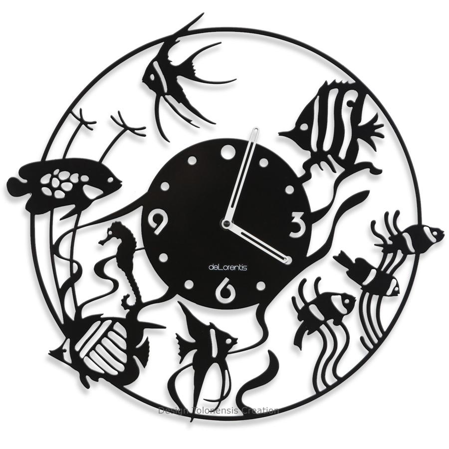 Horloge murale Poissons ATOL