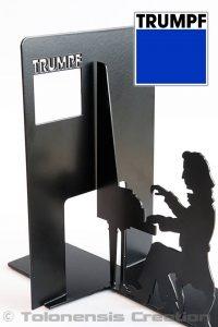 Serre-livres personnalisé sur le thème de Chopin réalisé pour la société Trumpf Polska