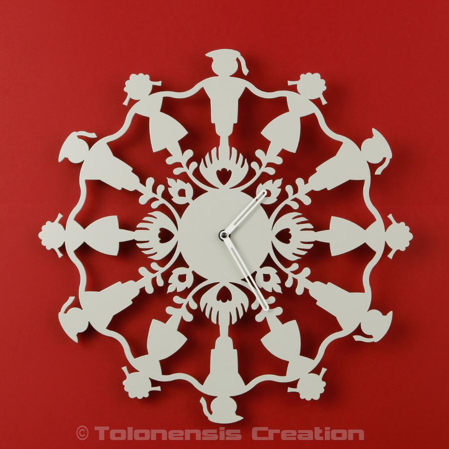 Horloge Polish Folk Krakowiacy Gris agate