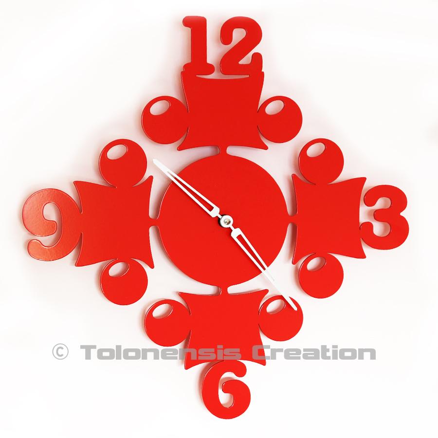Horloge rouge Circus