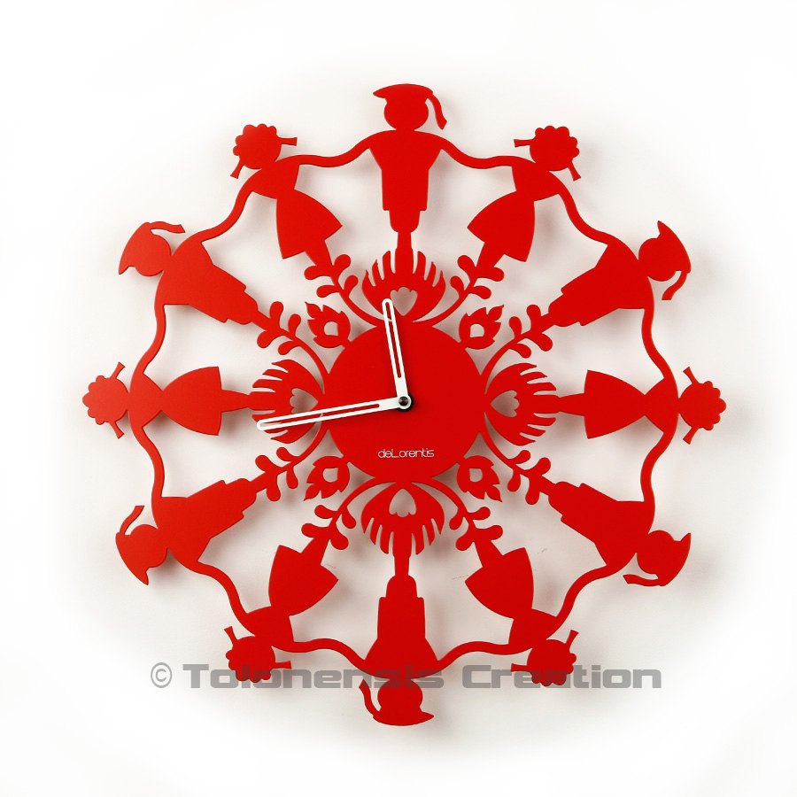 Horloge Polish Folk Krakowiacy rouge brillant