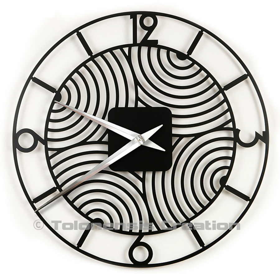 Horloge géante Art Deco 80 cm - Design Jacques Lahitte © Tolonensis Creation