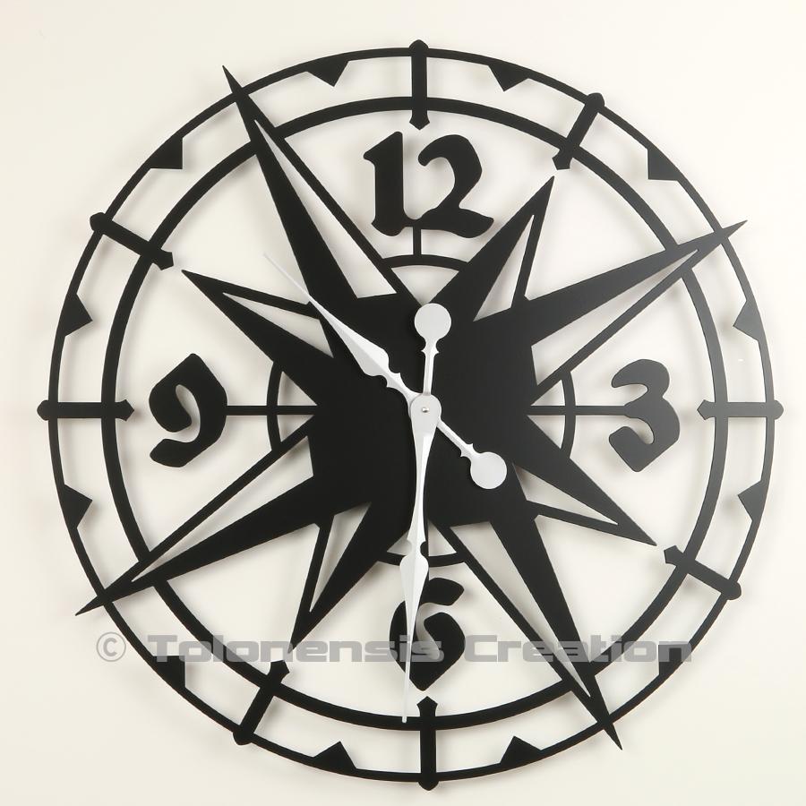 Horloge géante exotique Colombus 80 cm en métal