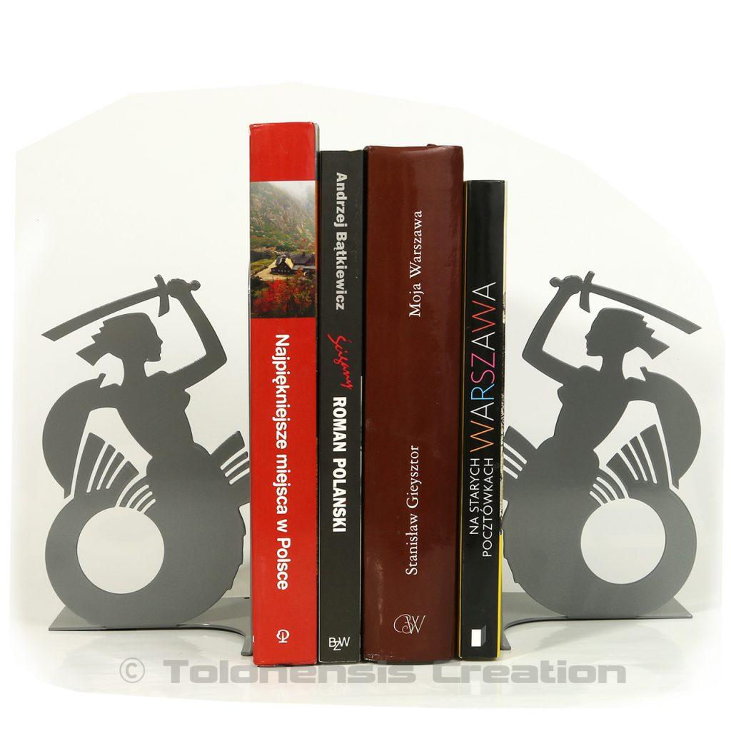 Paire de serre-livres Sirène de Varsovie gris