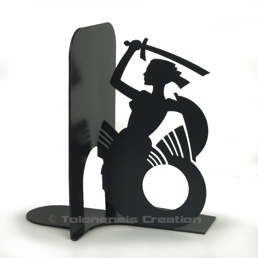 Serre-livres Sirène de Varsovie en version noire – Design Jacques Lahitte © Tolonensis Creation
