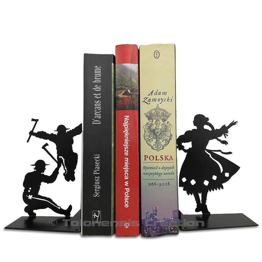 Serre-livres Górale avec les danseurs folkloriques de la région des montagnes de Zakopane  – Design Jacques Lahitte © Tolonensis Creation
