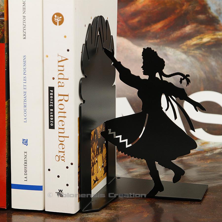 Serre-livres Krakowianka sur le thème du folklore de la région de Cracovie – Design Jacques Lahitte © Tolonensis Creation
