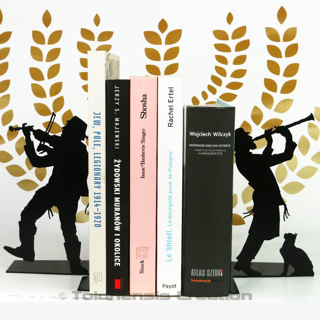 Les serre-livres Judaica Klezmer. Design Jacques Lahitte © Tolonensis Creation