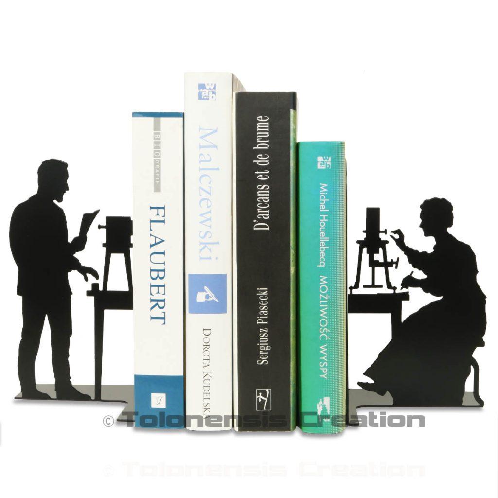 Serre-livres Pierre et Marie Curie