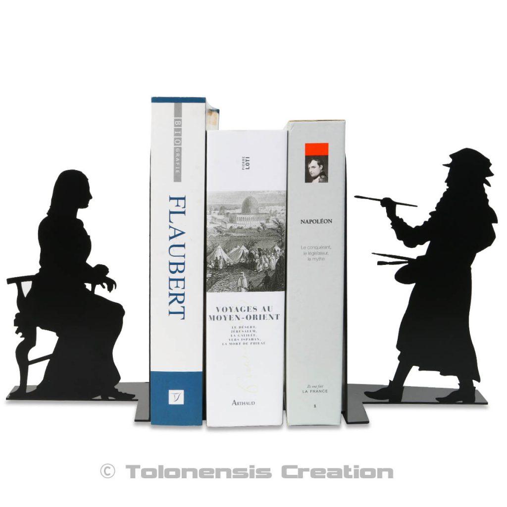 Serre-livres Léonard de Vinci et La Joconde