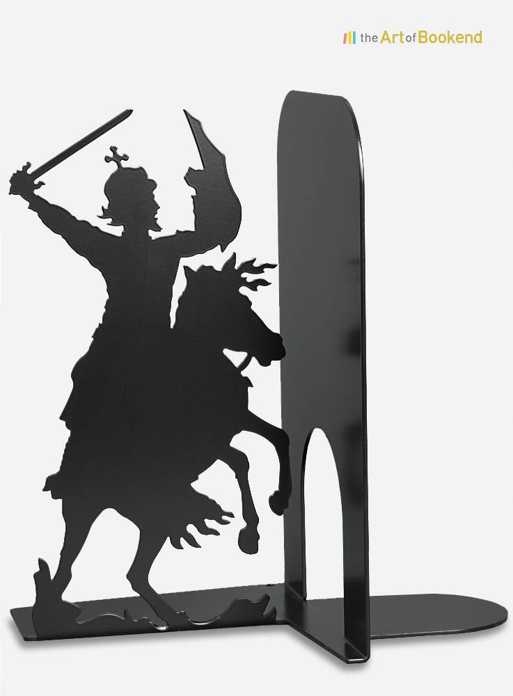 Serre-livres la Bataille de Grunwald d'après un tableau de Jan Matejko
