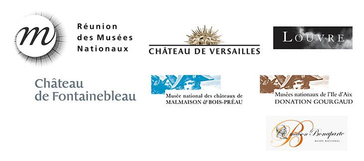 References of the Tolonensis Creation company for museums Le Louvre, Chateau de Versailles,Chateau de Fontainebleu, musée d'Orsay